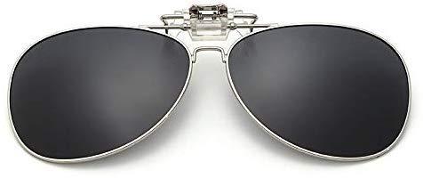 Giow Gespiegelte polarisierte Clip-On-Sonnenbrille Männer Frauen Flip Up Lens Driving Nachtsichtbrille Clips On Goggles