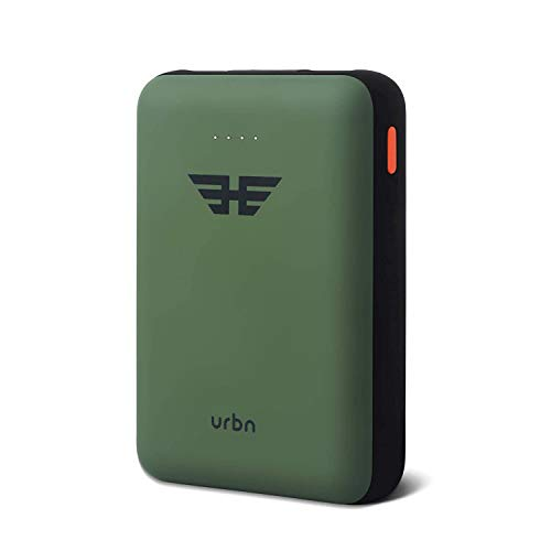 URBN 10000 mAh Li-Polymer Ultra Compact Power Bank with 2.4 Amp 5V Fast Charge (Camo)