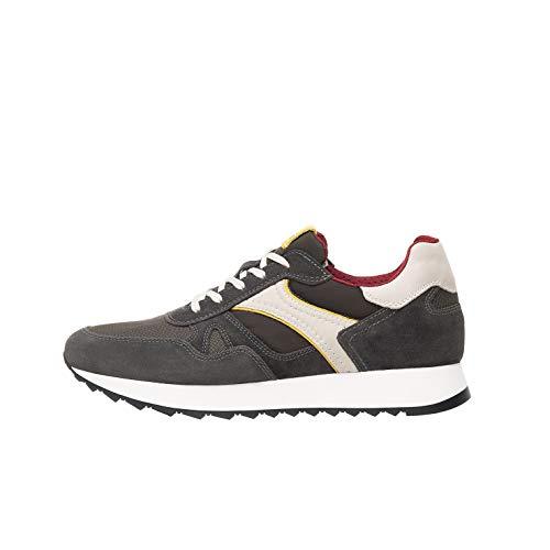 Nero Giardini P900941U Sneakers Uomo in Pelle, Camoscio E Tela - Oliva 40 EU