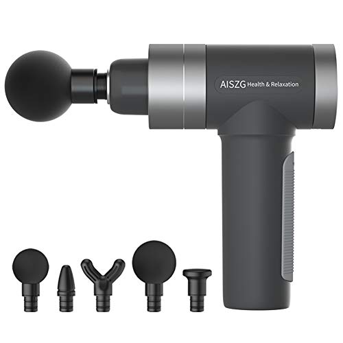 Anaric-Tih Faszienpistole Muskelmassagegerät Fitness Muskelentspanner Elektrische Massage USB Aufladen, 0, GY2