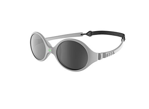 Ki ET LA – Gafas de sol para Bebé modelo Diabola – 100% irrompibles - color Gris Claro – 0-18 meses