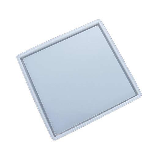 Silikon-Harz-Tablett, Epoxidharz-Gussform für DIY Schminktisch, Schmucktablett, Servierbrett und Serviertablett.