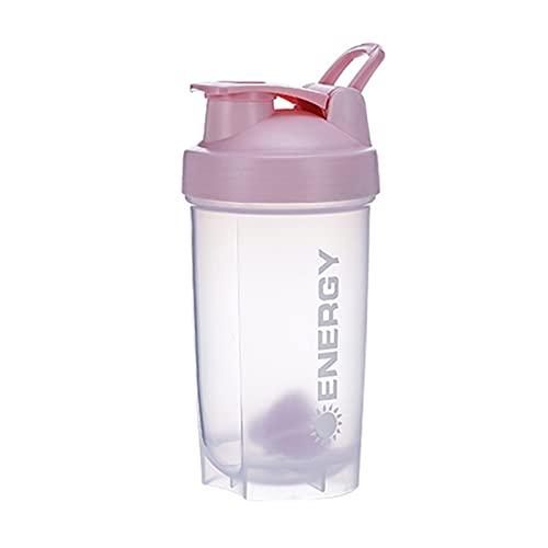 Pengyu 500ml Gym Shaker Bottle BPA Free Protein Mixer Taza De Agua para Fitness Rosado Rojo