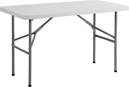 Archimede Table Pliante rectangulaire, Table Pliante rectangulaire, Gris Clair, 122 x 62 cm