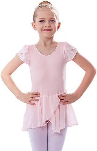 MdnMd Petal Sleeve Dance Ballet Leotard for Girls Toddler Tutu Skirt Ballerina Dress Outfit product image