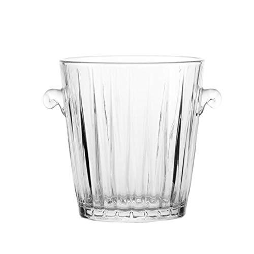 Cubo de Hielo Aislante Cubo de hielo de vidrio Cubo portátil Portátil Cubo de hielo Cubo de vino Cubo de vino Champagne Bucket Bebida Cubo ACTIVIDADES Y CAMPING VATIBLES para BBQs, Cócteles, Fiestas