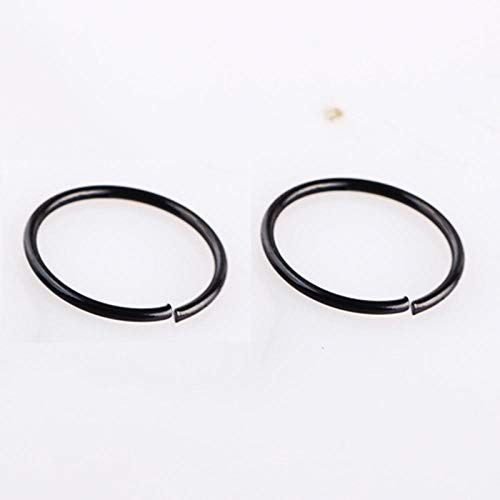 Niaofeces Nose Ring 2 Pcs 0.8Mm Surgical Steel Small Nose Rings Gold Silver Body Clips Hoop For Women Men Cartilage Piercing Jewelry-Black_8Mm