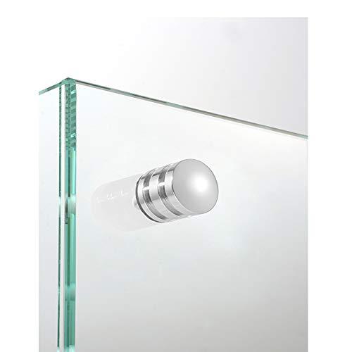 Duschtürknopf (Paar) für Glasdusche/Duschtürknauf/Griff für Duschtür (Oberfläche: Edelstahl)