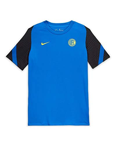 Nike Herren T-Shirt Inter M Nk BRT Strk Top Ss, Blue Spark/Black/(Tour Yellow) (No Sponsor-Plyr), 2XL, CD4914