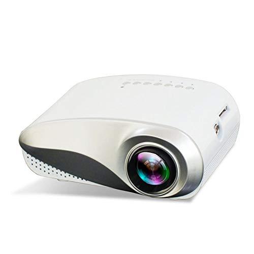 MGWA Proyector Ayuda Portable Mini Proyector del Consumidor 1080 Es Compatible con Una Variedad De Dispositivos Conectados Al Proyector HD (Color : White)