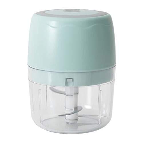 bobotron Chopper, tritaghiaccio elettrico senza fili, 400 ml, per tagliare l'aglio, multifunzione, per verdure, colore: blu