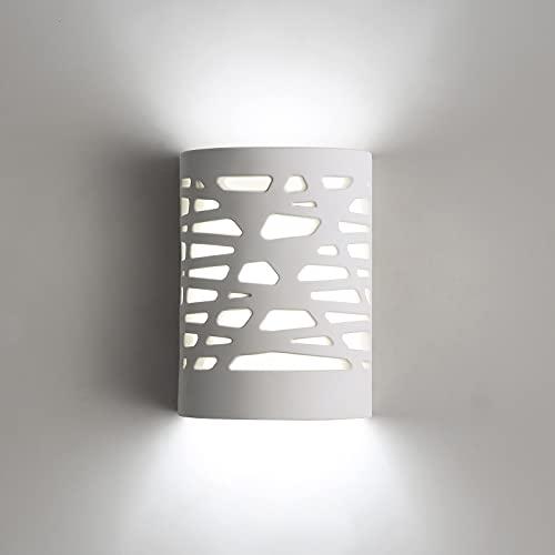 Pheashine Lámpara de Pared LED, Luz Blanca de 5W, Lámpara de Pared Para Interiores, Moderna Lámpara de Pared de Yeso Para...
