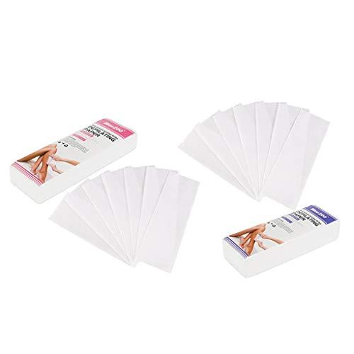 dailymall 200pcs Bandes de Papier Non-Tissé Épilation à la Cire Professionnelle