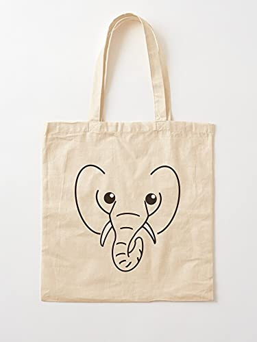Fun Cartoon Trunk Elephant Girls Kids Grey Top Boys | Bolsas de lona con asas, de algodón duradero