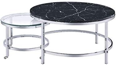 Modern Nesting Cocktail Table Multiple Use of Side 2 最安値に挑戦 f 割引 Set