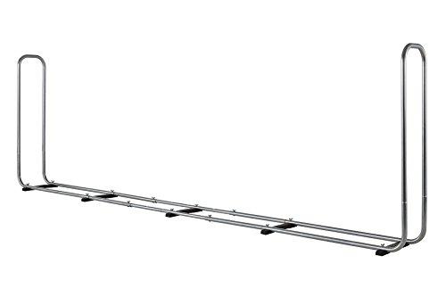 wolfcraft Stapelhilfe Modular XXL 5125000 | Verstellbare Kaminholzaufbewahrung für den Außenbereich aus verzinktem Stahl | Max. Volumen: 1,6 m³