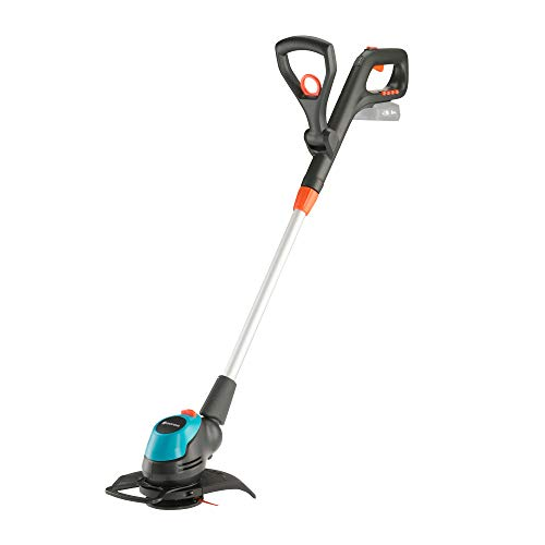 GARDENA 14700-55 Akku-Trimmer EasyCut 23/18V P4A solo, 18 V, Schwarzanthrazitgrautürkisorange, Schnittbreite 23cm | 18V Power for All