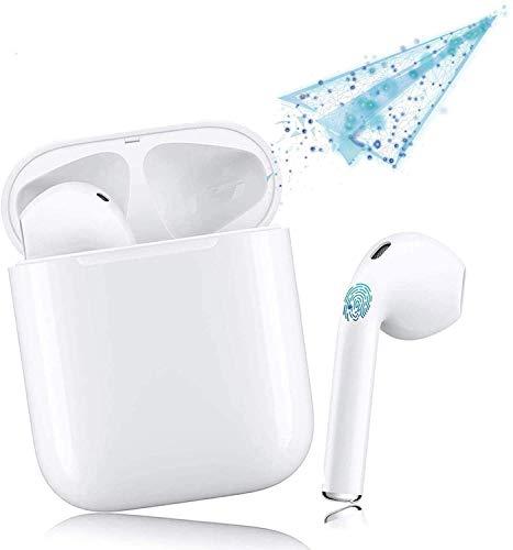 Cuffie Bluetooth, Cuffie Wireless in-ear, Cuffie Stereo 3D Sportive, Con Scatola Di Ricarica 24 Ore e Associazione Automatica Del Microfono integrato Per Samsung/Huawei/iPhone/Android