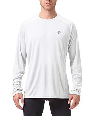 Runhit Long Sleeve Sun UV Protection T-Shirt Mens Workout Running Fishing Dri Fit Gym Shirt