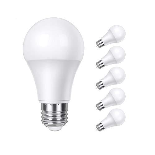 Tasmor 6pcs Bombilla LED E27, Bombillas Bajo Consumo, Bombilla LED, Bombilla LED Luz Cálida 9W Equivalente a 60W 810LM 2700K Calor Bajo Gran Ahorro de Energía