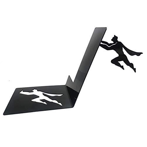 Sujetalibros creativo Creativa Superman héroe sencilla magnética viento invisible puesto de libros estante de libros decoración de escritorio soporte for libros sujetalibros Sujetalibros boutique