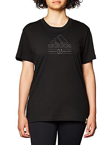 adidas W BB T, T-Shirt Donna, Black, 2XS