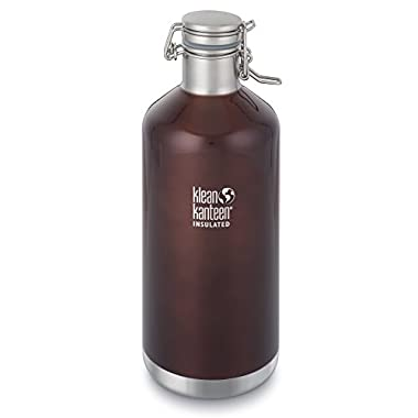 Klean Kanteen Dark Amber Classic Vacuum Insulated Growler Storage with Swing Lok Cap, 64-Ounce