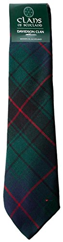 I Luv Ltd Davidson Clan 100% Wool Scottish Tartan Tie