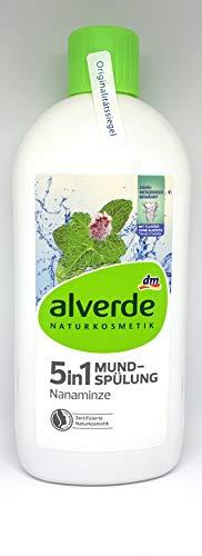 alverde NATURKOSMETIK Mundspülung 5in1 Nanaminze, 450 ml