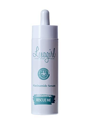 Anti-Pickel Soforthilfe - Rescue Me Niacinamide Serum | Vitamin B3 und Hyaluronsäure für umwerfend reine Haut & Anti-Aging Effekt - 50ml