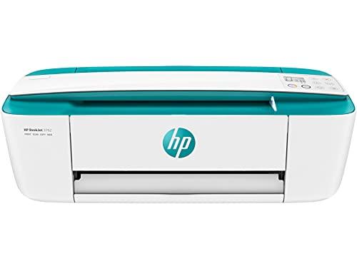 HP DeskJet 3762 T8X23B Stampante Fotografica Multifunzione A4, Stampa, HP Scroll Scan, Wi-Fi, HP Smart, USB 2.0, No Stampa Fronte/Retro Automatica, 4 Mesi di HP Instant Ink Inclusi, Verde Aqua