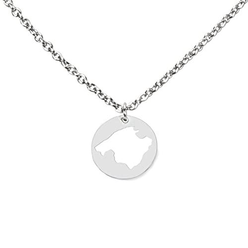 DAHEIM Halskette Mallorca - filigrane Kette Majorca für Damen und Frauen, Heimat-Schmuck Balearen aus Edelstahl (silber-farben) DHK293