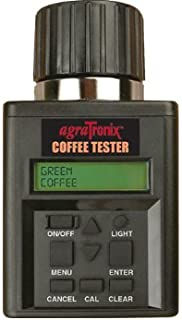 Agratronix Coffee Moisture Tester for Green and Parchment Coffee with Digital Meter Readout and 4 Pack of 9v Batteries