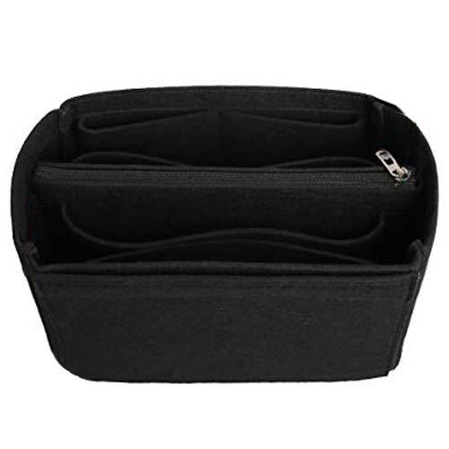 SHINGONE Filz Handtaschen Organizer Tasche Handtaschenorganizer mit Reißverschluss Tote Organizer Innentasche für Handtaschen Cosmetic Organizer Bag - Schwarz L