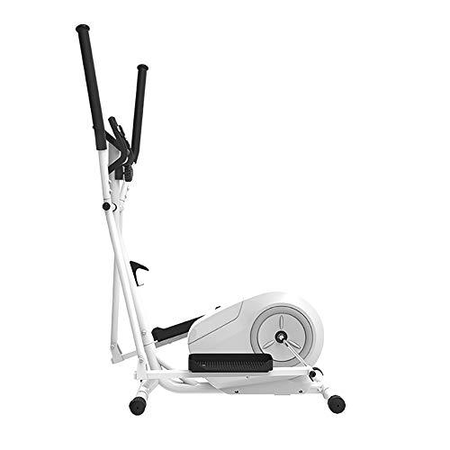 LK-HOME Bicicleta Elíptica, Máquina para Adelgazar Fitness, Máquina Elíptica con 8 Niveles De Resistencia Y Sensor De Frecuencia Cardíaca, Máquina De Entrenamiento Cardiovascular,Blanco