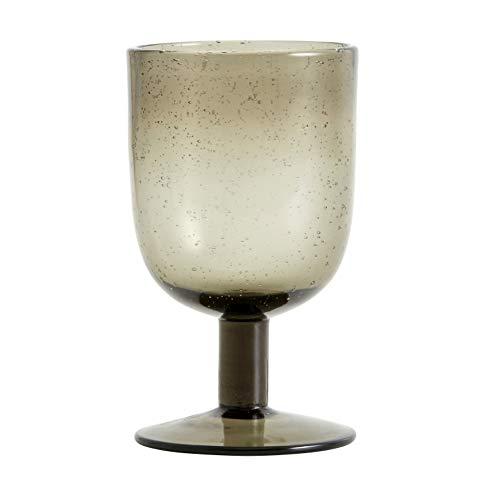 Maroc Weinglas von NORDAL klare Form Farbe Smoke, Grau, Handgemacht