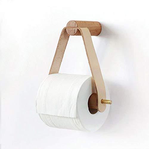 Toiletrolhouder Houten gerold toiletpapier Holder badkamer opberg Papieren Handdoek Dispenser toiletpapier Paper Rack