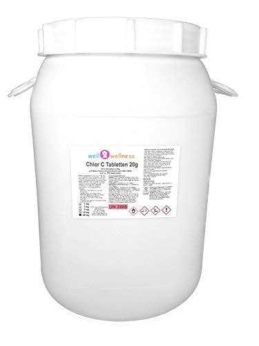 Cloro C Compresse–Pastiglie Di Cloro Lentamente Solubile A 10G Appositamente Per Morbido In Acqua–25Kg