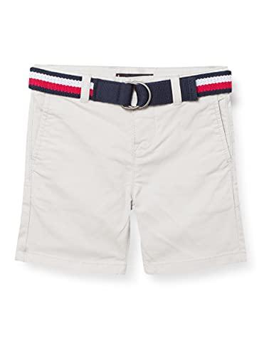 Tommy Hilfiger Jungen Essential Belted Chino Shorts, Grau, 74 cm