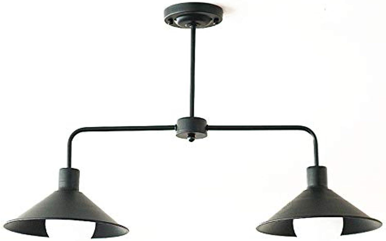 Einfache Kronleuchter, Retro Industrial Chandelier 2-Licht groen Rock Kronleuchter Restaurant Studie Schlafzimmer Beleuchtung
