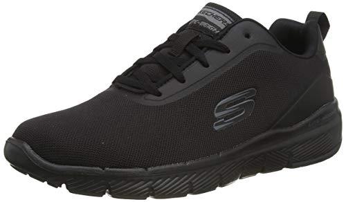 Skechers Flex Advantage 3.0 Landess, Zapatillas Hombre, Azul (Black Knit/Synthetic/Black Trim BBK), 41.5 EU