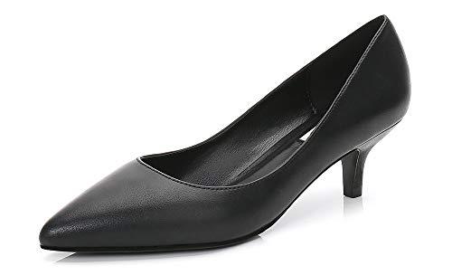 Soulength 5 cm de Tacones Bajos de Las Mujeres Tacones de Aguja Point Toes Charol señoras Bombas Antideslizante Suela de Goma Sexy Elegante cómodo Solo Zapatos 34-43EU