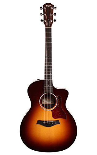 Taylor 214ce Deluxe Grand Auditorium Cutaway Acoustic-Electric Guitar Tobacco Sunburst