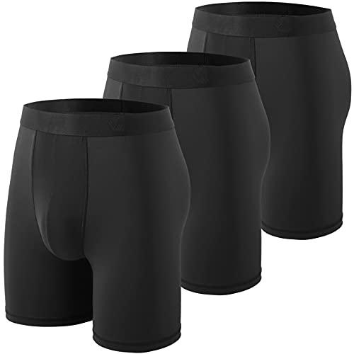WANDER Mens Sport Underwear for Men Performance Athletic Boxer Brief Tights Active Workout Underwear