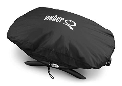 Weber 7117 Premium Grillabdeckung für Q100/1000 Serie, schwarz