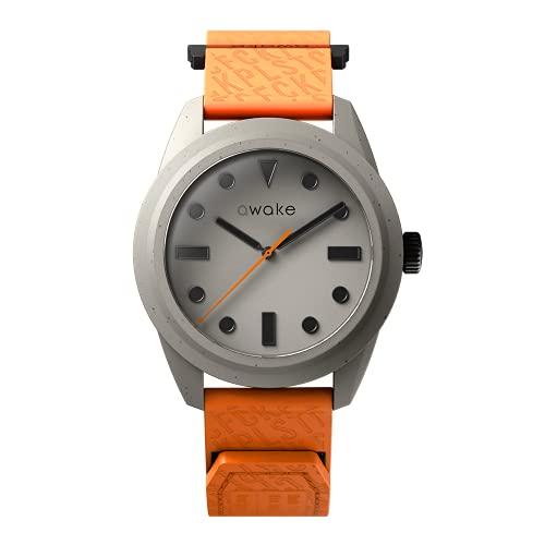 AWAKE ELT06 - Reloj solar para hombre, fabricado a partir de red de pesca reciclada, impermeable, 50 m, marca francesa, solo 29 gramos