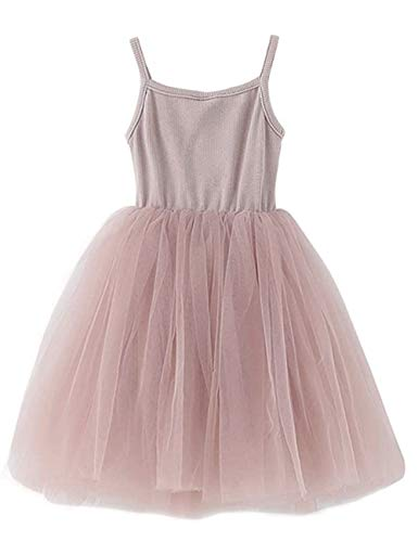 Baby Girls Tutu Dress Sleeveless Infant Toddler Sundress Tulle Bubble 5 Layers Cream
