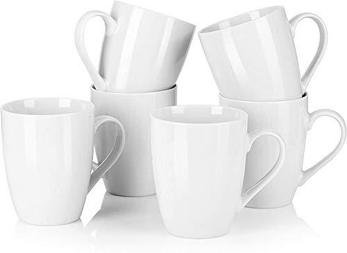 MALACASA, Elisa series, 6 piezas Vajillas de Porcelain Cafe Mug Taza de cafe Juego de Tazas