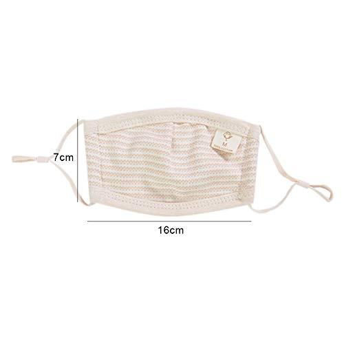 Oce180anYLV Mundschutz für Kinder, Baby, wiederverwendbar, staubdicht, verstellbar, Baumwolle Einheitsgröße M