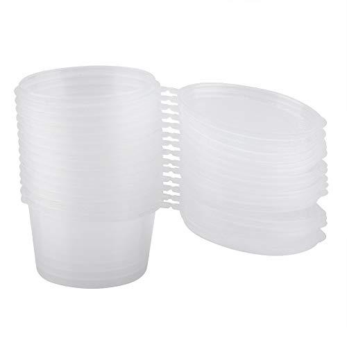 Porciones de plástico desechables con tapas 100 ml 4 oz Salsas claras...